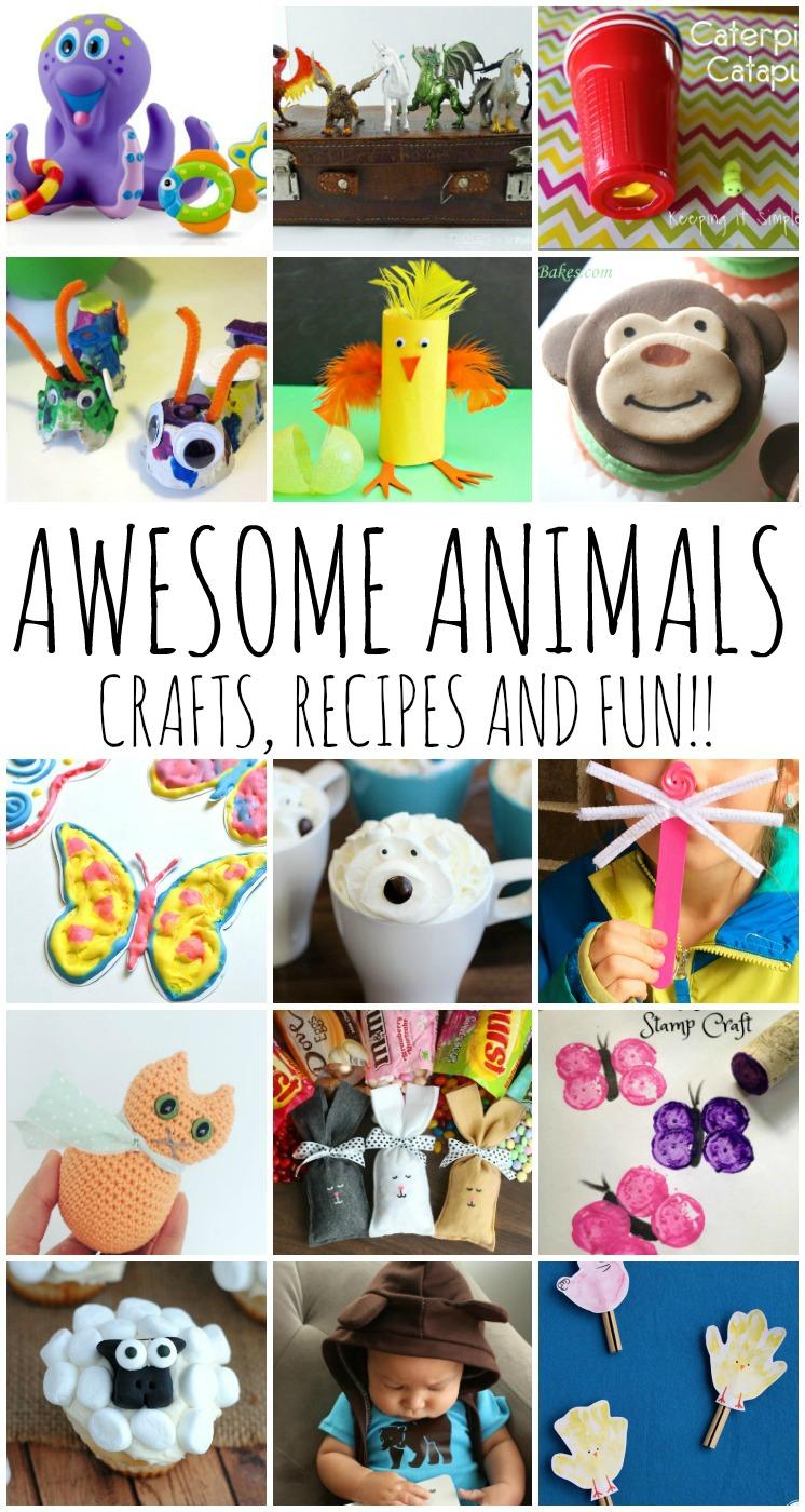 DIY ANIMAL CRAFTS RECIPES KIDS