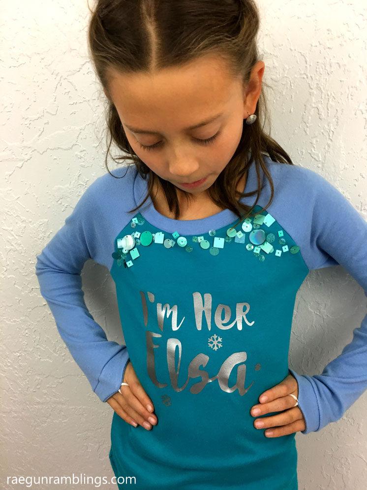 Frozen Elsa Shirt Tutorial