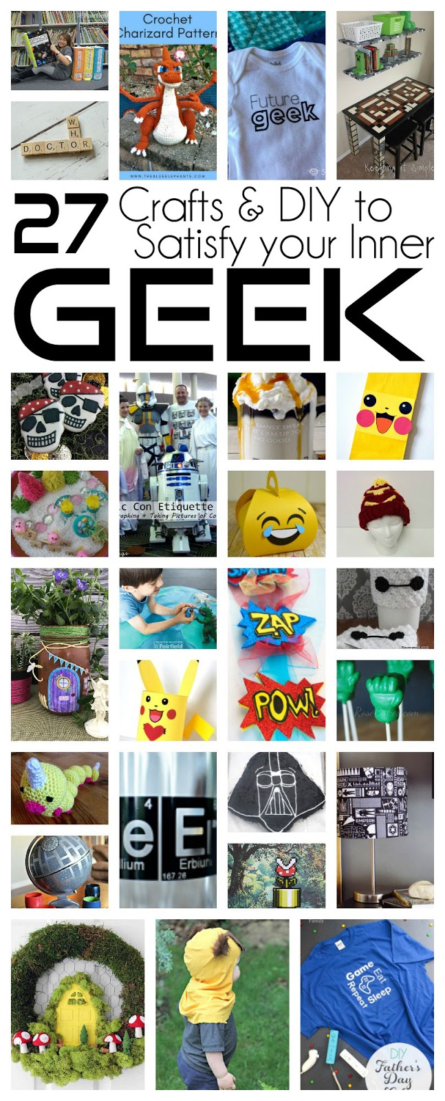 So many great Geek crafts and DIY tutorials