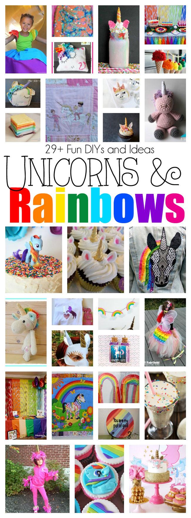 DIY Unicorns Rainbows Crafts and Party ideas
