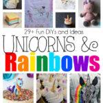 DIY unicorns and rainbow crafts