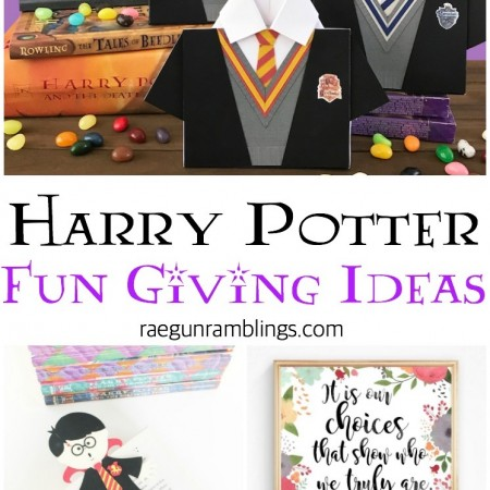 Harry Potter giving ideas printables and svgs