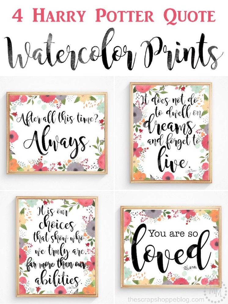 Harry-Potter quote Watercolor-printables