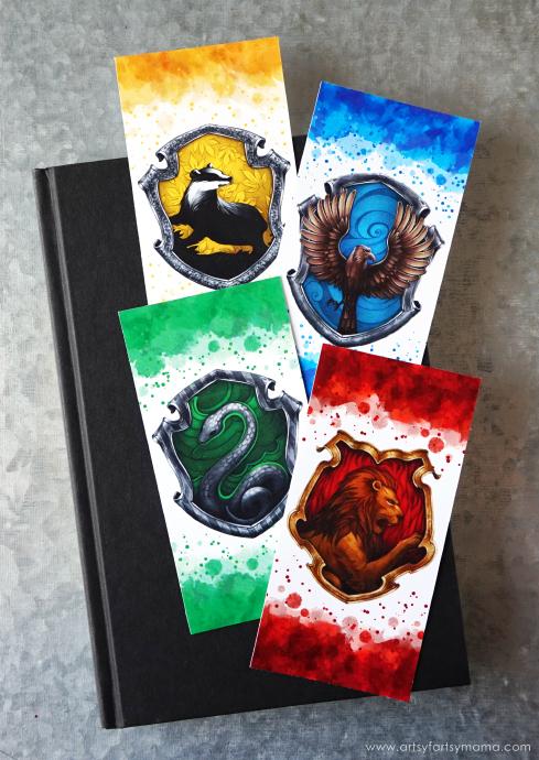 Printable Harry Potter Hogwarts-House-Bookmarks