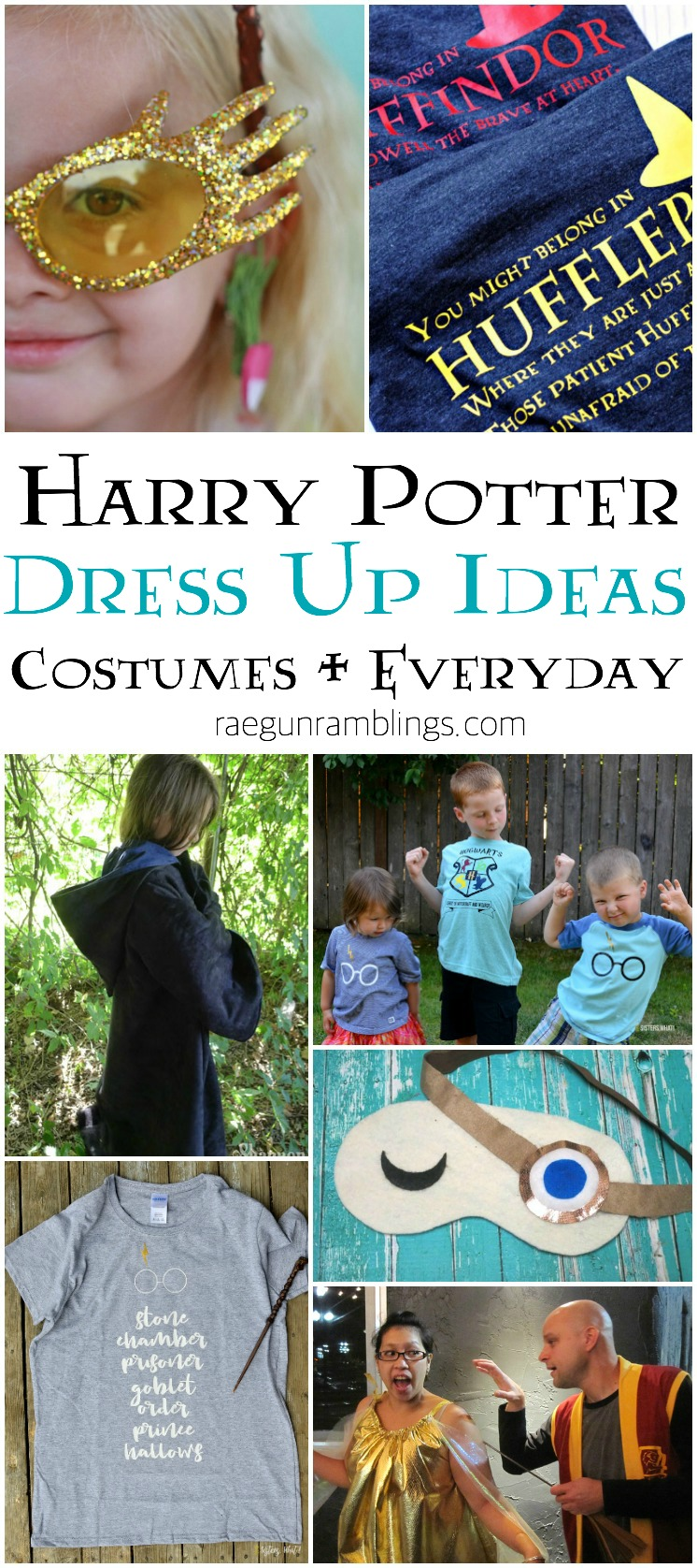 DIY harry potter dress up and costume tutorials