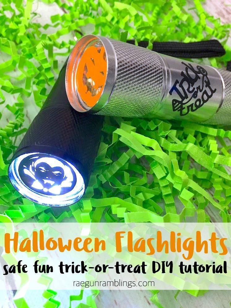 DIY trick or treat flashlights great easy cricut project idea for safe halloween