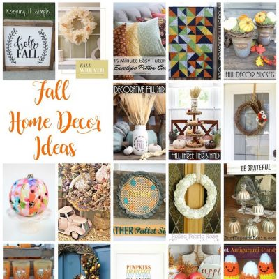 Fall Home Decor Ideas and Block Party