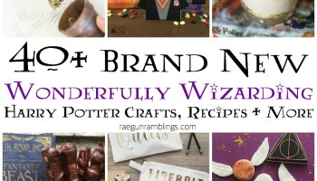 Over 50 awesome harry potter projects rae gun ramblings 40 new wonderfully wizarding crafts recipes and more solutioingenieria Image collections