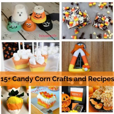 Candy Corn Crafts Recipes and Block Party