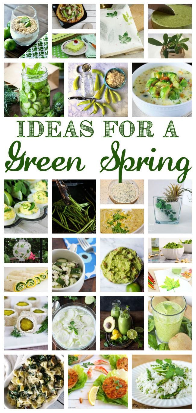 green spring recipes and crafts
