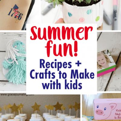 DIY Summer Fun Crafts Recipes and Block Party