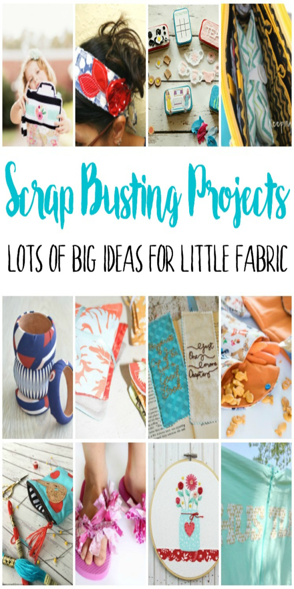 Tons of awesome DIY projects for using scraps of fabric. Great gift ideas and beginner sewing scrap buster projects.