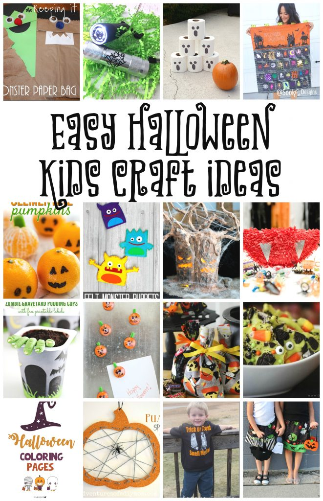 Halloween Kids Crafts and halloween class party ideas