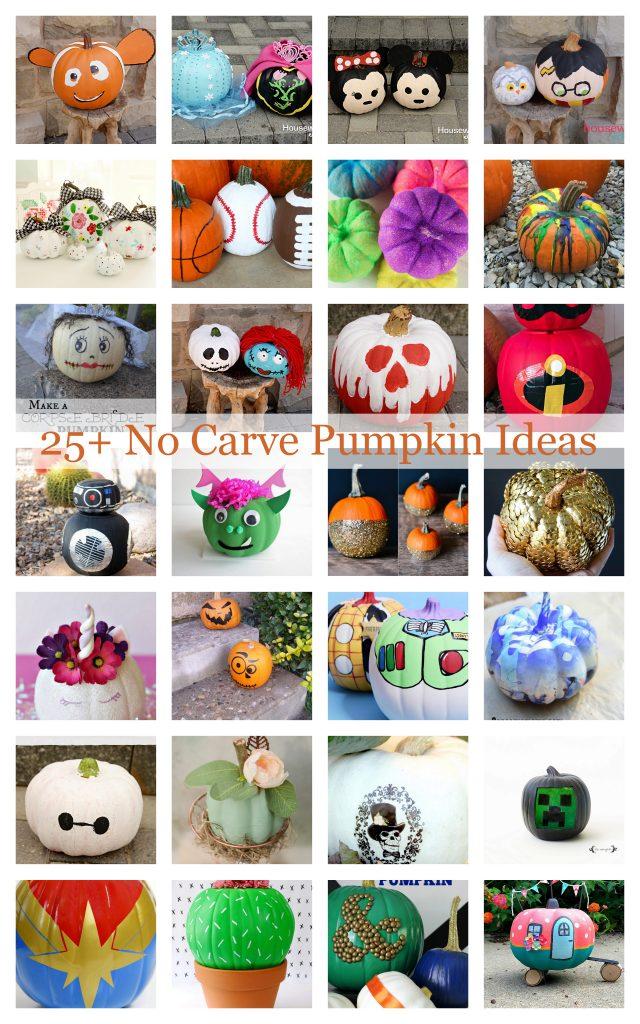 25 DIY No Carve Pumpkin Ideas for kids