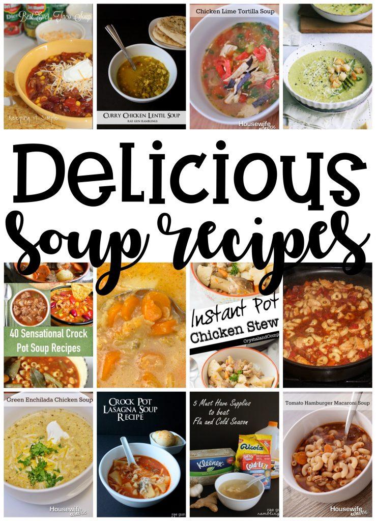 Delicious Soup Recipes Crock Pot and Instant Pot