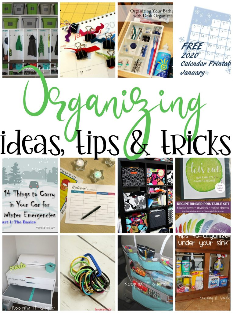 organizing-ideas-tips-and-tricks-perfect for spring cleaning back to school and new years
