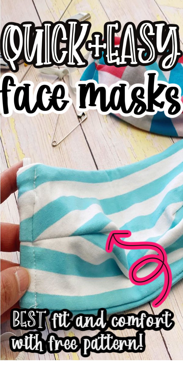 best quick and easy fabric face masks with free pattern