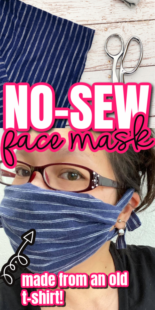 This really works! How to make a face mask from a t-shirt no-sew tutorial in just 5 minutes.
