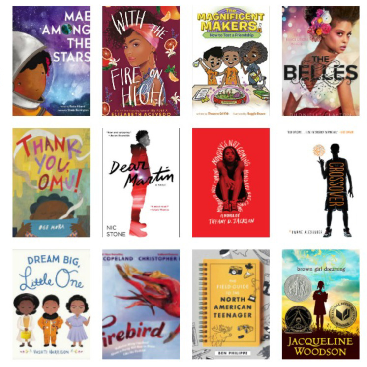 great selection of books by black authors for kids