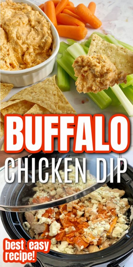 chip with buffalo chicken dip and crock pot