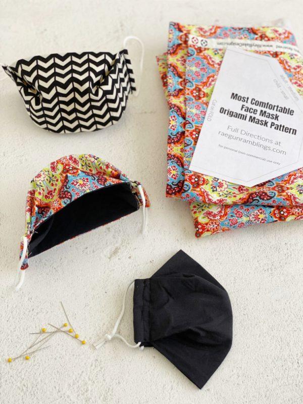 box face masks and fabric