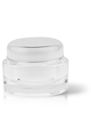 Acrylic Jar - Double Wall Oval 100ml AJ-27-14-100