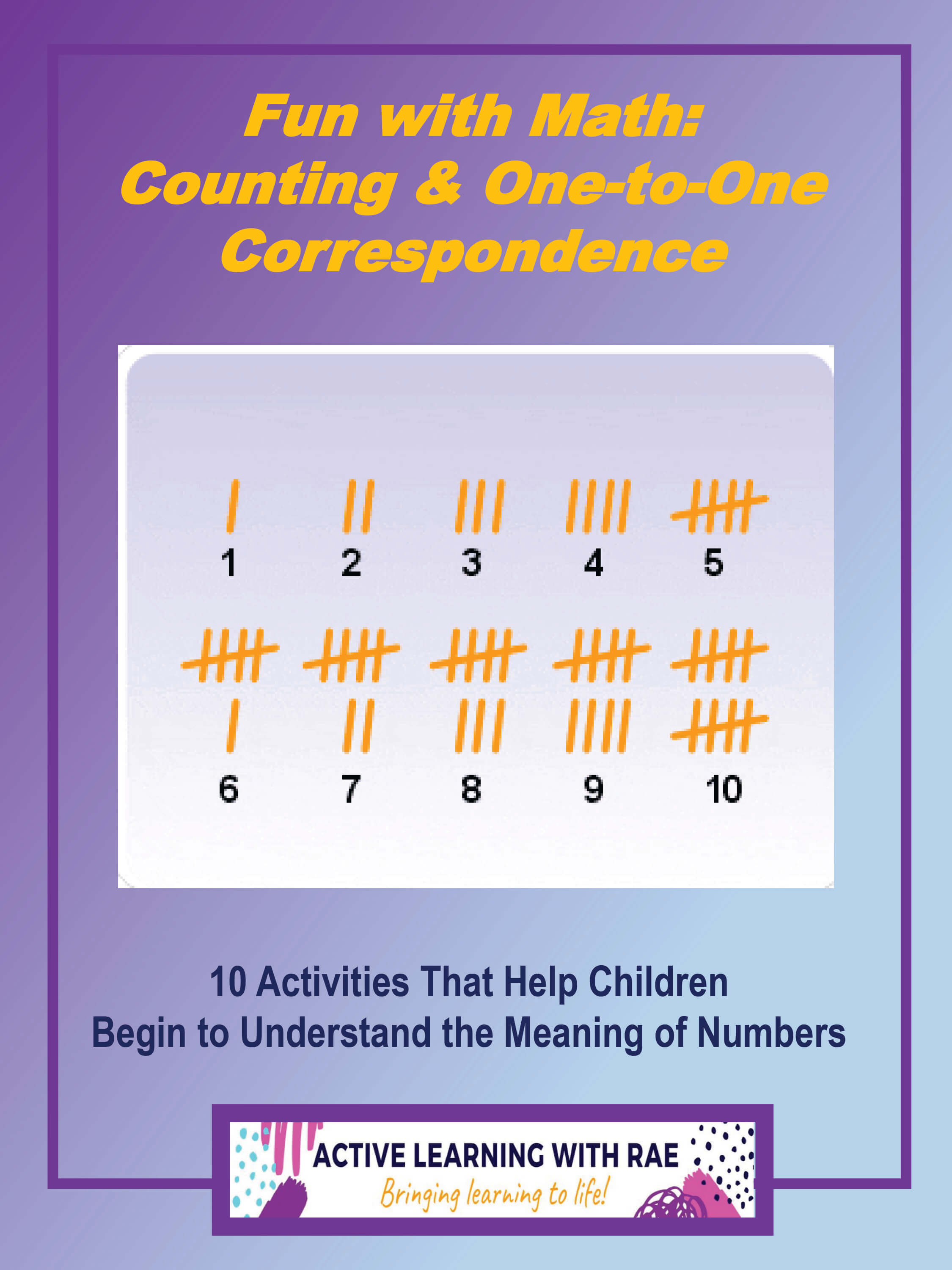 Fun With Math Counting Amp One To One Correspondence