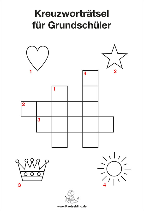 Kreuzwortrtsel Zum Ausdrucken Grundschule 1 Klasse