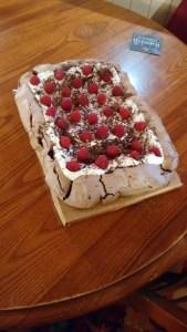 Cake! Pavlova! Whatever it was, it was tasty!