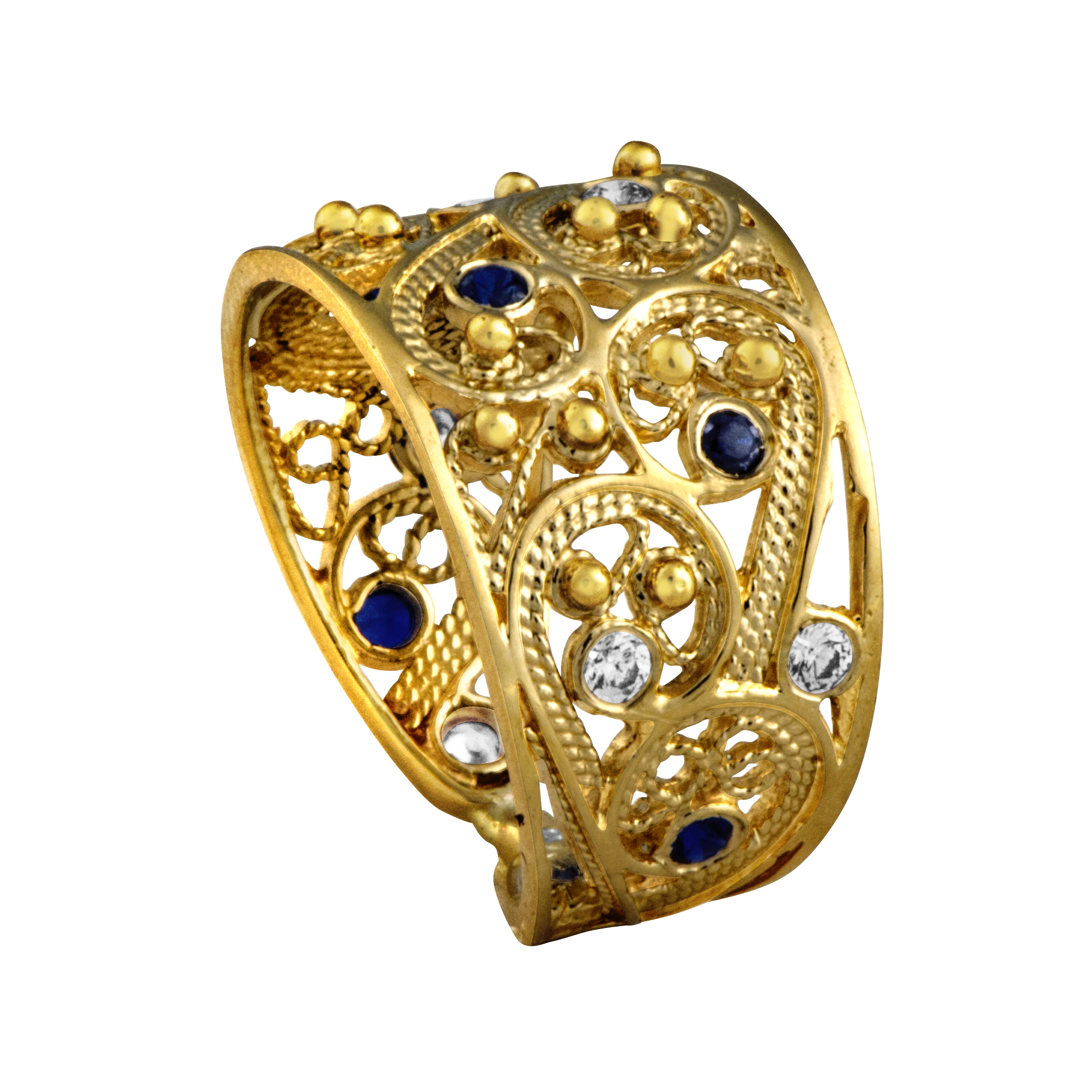 magic dia with lyst john fullscreen sapphire ring hardy jewelry sheen cut view golden champagne