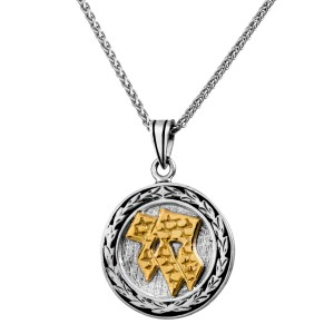 Sterling Silver and Gold Chai Pendant Necklace