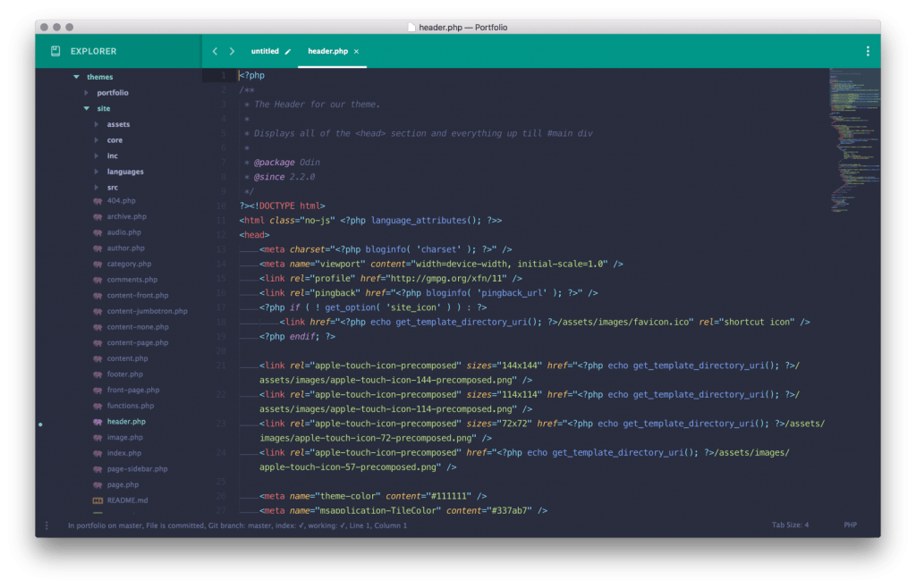 Sublime com Material Theme