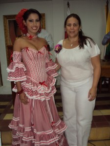Reina del Carnaval de Puerto Colombia 2010: Danitza Santiago Viloria y Alcaldeza de Puerto Colombia: Marta Villalba