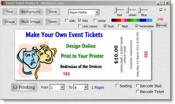 raffle tickets online printing