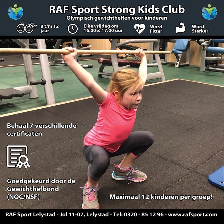 De RAF Strong Kids Club is voor kinderen van 8 t/m 12 jaar.