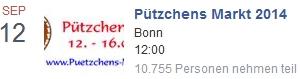 Facebook Veranstaltung Pützchens Markt 2014