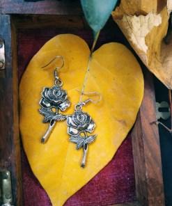 RagaFab Earring : Buy Silver Plated Rose Oxidized Earring