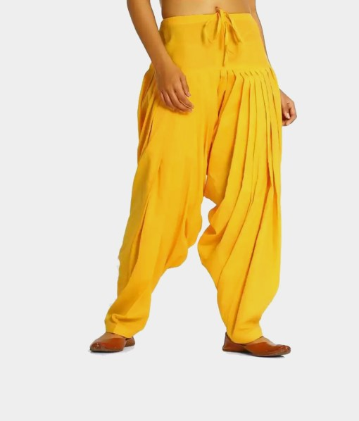 Buy Yellow Patiala Pants Low Price Online India | RagaFab