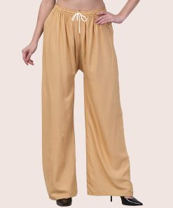 Buy Beige Rayon Palazzo Pants At Just 149/-   Limited Offers