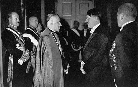 Cesare Orsenigo, Pope Pius XII's nuncio to Nazi Germany, meets with Adolf Hitler, 1935-1-1