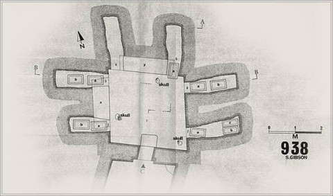 1st Talpiot Tomb: Original locations of ossuaries as shown on Gibson's map