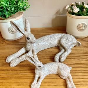 Paul Jenkins Raku Small Lying Hare