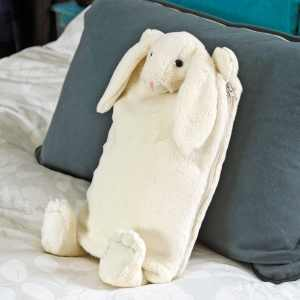 Bunny Hot Water Bottle Cover /PJ Case – Cream