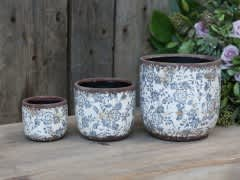Melun Flower Pot With French Pattern