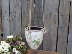 Toulouse Hanging Flower Pot With Roses