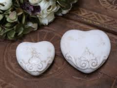 Marcy Heart Antique Cream