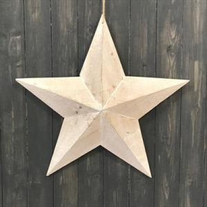 White Washed Wooden Star 59cm