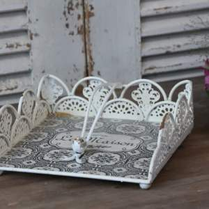 French Lace Edge Napkin Holder