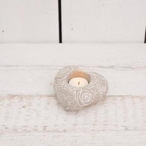 Concrete Heart Tealight Holder
