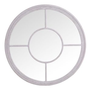 Round Window Mirror Grey